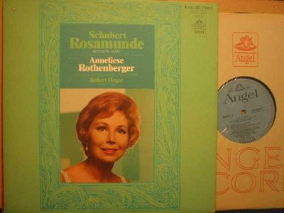 A248*Angel藍底銀圈*德錄版黑膠唱片*Rothenberger –舒伯特:Rosamunde (Incidental Music) *NM