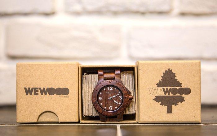 【紐約范特西】現貨  義大利 We Wood WEWOOD KALE CHOCO WHITE 木頭錶 棕白色 木頭指針錶 白色指針