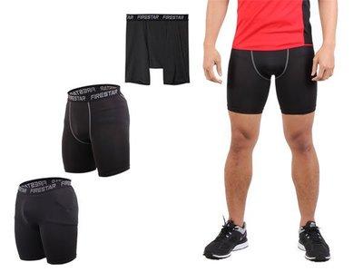 【N3802】FIRESTAR 男機能緊身短褲(慢跑 路跑 運動短褲 ≡體院≡ 彰化縣