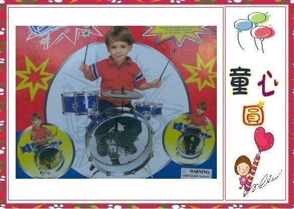 小男生的最愛~歡樂爵士鼓組~3鼓一鑼附椅子~◎童心玩具1館◎