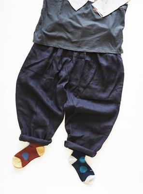 MH選物室 meri ja kuu 日本製 色之輪廓-挪威旅行 羊毛 羊駝 大點點 短襪 中筒襪 襪子