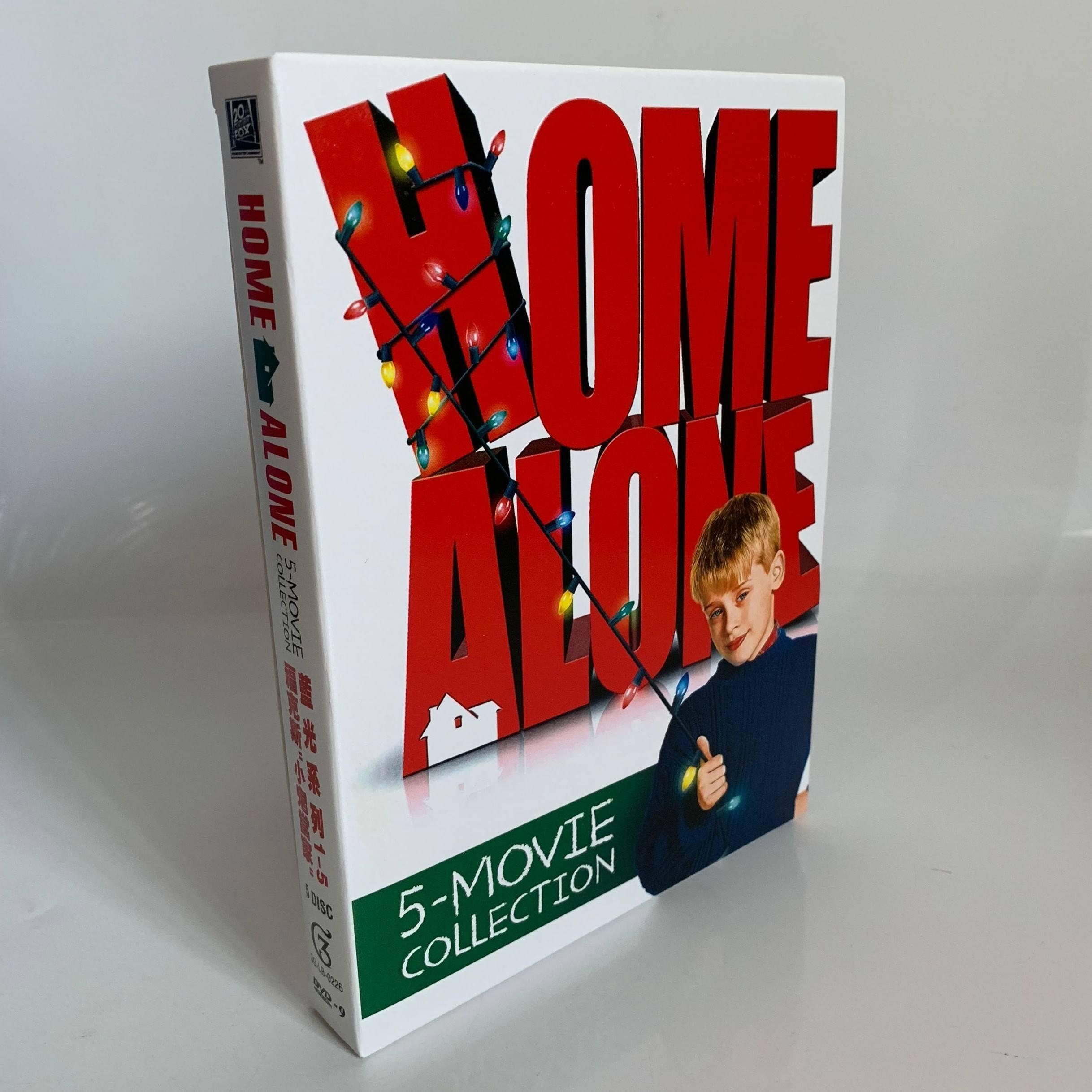 圣誕喜劇兒童電影 小鬼當家 Home Alone1-5部全集DVD碟片 精美盒裝