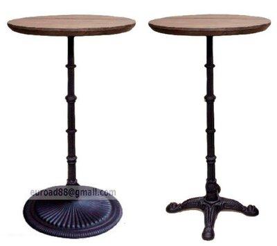 【台大復刻家具】工業風格 黑鑄鐵 高腳吧檯/講台桌 Bistrot Brasserie Bar Table 酒吧桌【Vintage】