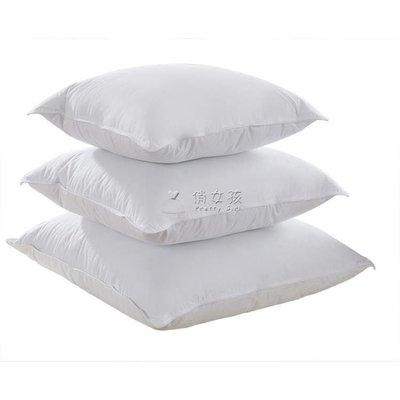 日和生活館 靠墊床頭靠鵝毛羽絨抱枕芯床頭大靠墊芯沙發靠背辦公室靠枕內膽方枕芯S686