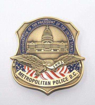 美國金屬徽章華盛頓大都會徽章總統克林頓就職典禮紀念章