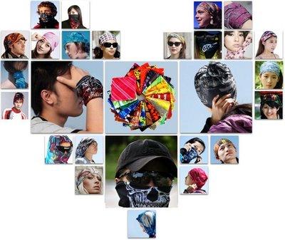 【飛輪單車】[不挑色]X-FREE無縫百變魔術頭巾-排汗透氣保暖禦寒(超殺價)真的是10元