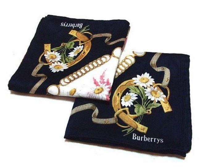 【姐只賣真貨】BURBERRY 手帕領巾_馬蹄花柄 母親節情人節送禮自用