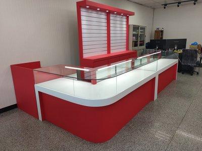 大豐LED玻璃櫥櫃-展示櫃、珠寶櫃、飾品櫃、精品櫃、手機櫃、化粧品櫃、鐘錶櫃、玻璃櫃