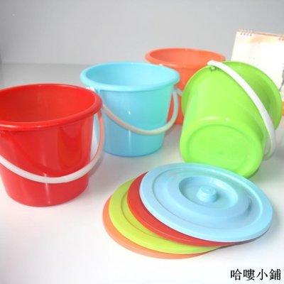 收納 特價小物 塑料彩色水桶提手帶蓋清洗桶洗拖把桶洗衣桶3L水桶儲水桶批發單筆訂購滿200出貨唷