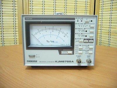 康榮科技二手測試儀器Kikusui KJM6755A Time Interval Jitter Meter(抖動分析儀)