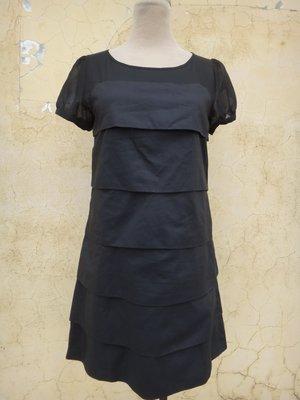jacob00765100 ~ 正品 CLEAR IMPRESSION 黑色 荷葉層層 洋裝 size: 2