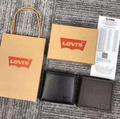 現貨 Levi's李維斯男士零錢包 Levi's皮夾 短夾 零錢夾 李維斯皮夾 經典百搭的錢包款式