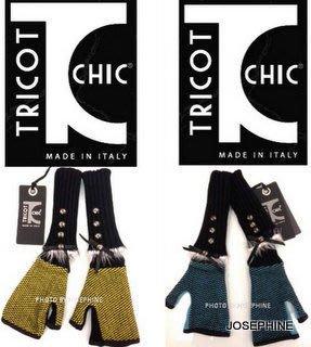 喬瑟芬【TRICOT CHIC】特價$6680~2012秋冬 黑+土耳其藍 人造絲 造型 露趾 手套(2色/*可拉長)