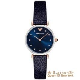 【紐約女王代購】EMPORIO ARMANI 亞曼尼 AR1989 義大利精品 皮帶女錶 歐美正品代購