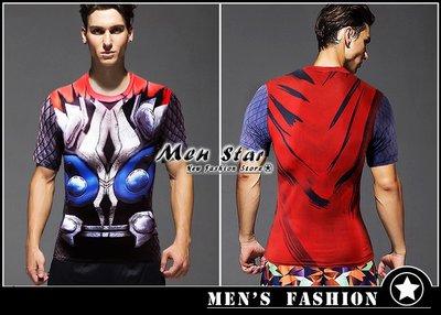 【Men Star】免運費 復仇者聯盟3 雷神索爾 彈力運動衣 角色衣 媲美 Dickies SMUDGE SQUAD
