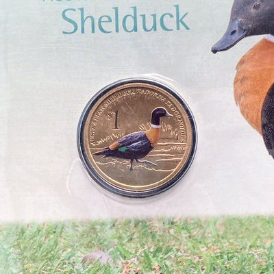 澳洲 雌麻鴨 Shelduck PNC紀念郵幣 / 翹鼻麻鴨 彩色紀念幣 硬幣 錢幣 特殊幣 小鳥 鳥類