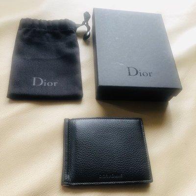[熊熊之家3]保證全新正品 Dior Homme DH 黑色牛皮  六卡 鈔票夾  短夾  短夾