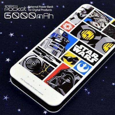 尼德斯Nydus~* 日本正版 星際大戰 黑武士 R2-D2 行動電源 6000 mAh 安卓 iPhone 6/6S
