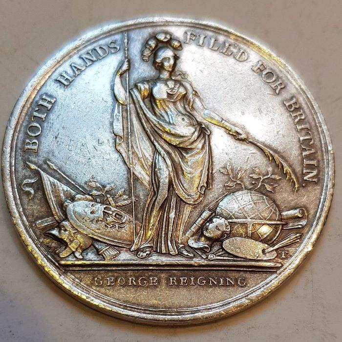 英國銀章 1736 UK Caroline Protecting Silver Medal