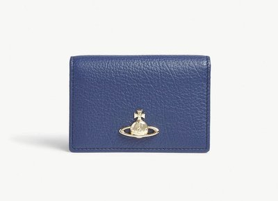 (預購)英國VIVIENNE WESTWOOD 時尚皮革法卡夾 Pimlico grained leather card holder