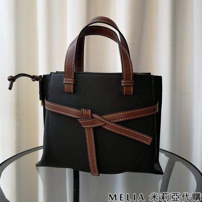 Melia 米莉亞代購 商城特價 數量有限 每日更新 19ss LOEWE GATE系列 馬鞍包 手提單肩 黑色棕帶