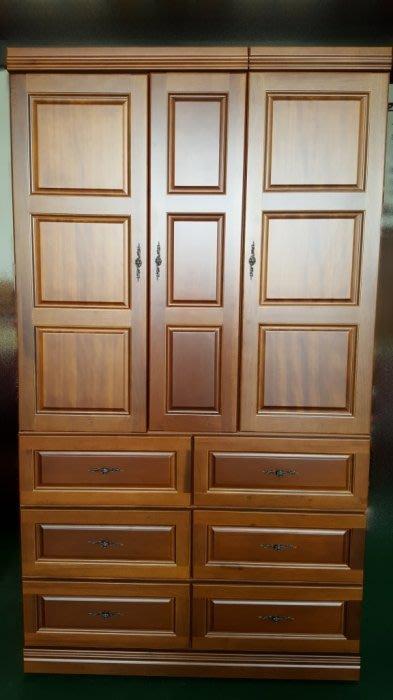 宏品二手家具館~全新B108半樟木實木衣櫃 衣櫥 衣架 斗櫃 收納櫃 家具 家電 庫存家具4折拍賣