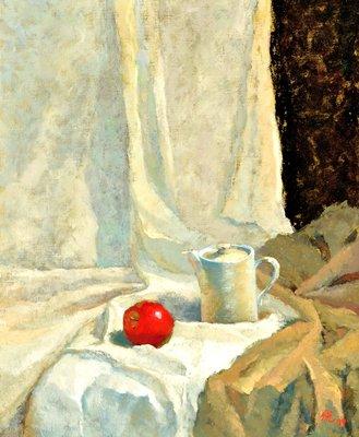 李悅寧 靜物 65x53cm 油畫 (油彩、師大、台灣、療癒、系統排列、繪畫療癒、女畫家)