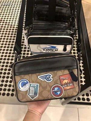 ㊣國際品牌COACH庫㊣美國代購COACH 72947 9月新款【2件免運】Graham Crossb全皮徽章貼圖相機包