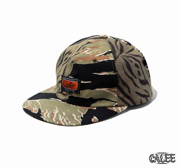 GOODFORIT / 日本CALEE Tiger Combination Pattern Cap拼接虎紋迷彩帽