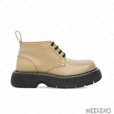 【WEEKEND】 BOTTEGA VENETA BV The Bounce 短靴 裸靴 靴子 卡其色