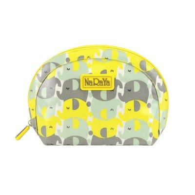 【泰國直送新色】全新@NaRaYa雙色大象防水款貝殼包/化妝包/收納包/盥洗包/萬用包(L號-非小圓包)…100%防水