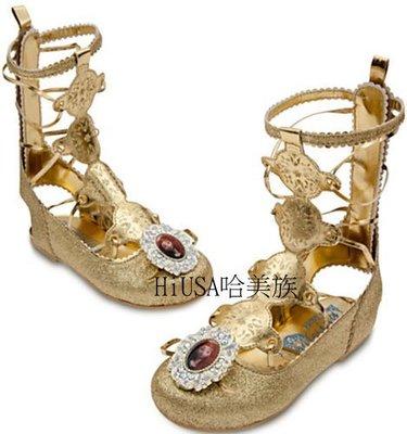哈美族 美國 Disney 迪士尼 Brave 勇敢傳說 Merida 梅麗達公主鞋 金色 羅馬涼鞋/舞會表演鞋 7/8