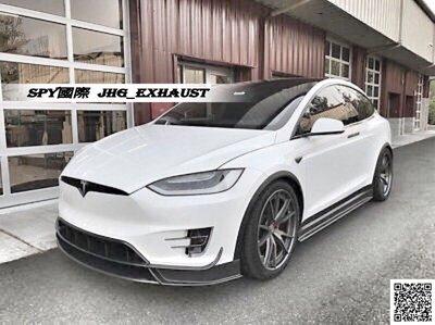 SPY國際 特斯拉 Model X 碳纖維 下擾流 側裙  尾翼 卡夢