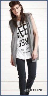 喬瑟芬【LE FULL PULL】2010 秋冬灰色軍風水晶墊肩羊毛長版背心~特價$6900含運