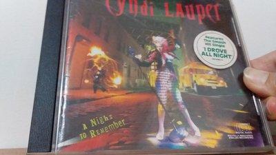 [文福影音館] 二手CD~CYNDI LAUPER/A Night to Remember~1989年發行~無ifpi