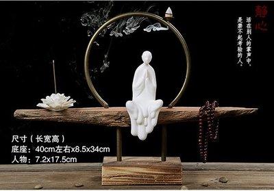 【自在坊】【特價分享】白瓷佛像倒流香 禪意擺件 櫥窗展示 手工創意 【全館滿599免運】