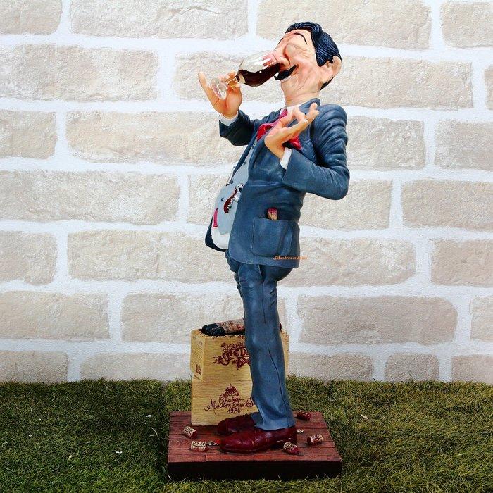 點點蘑菇屋 歐洲進口 精緻法國社會寫實派設計師FORCHINO系列擺飾-職業系列之品酒師 紅酒 酒塞 葡萄酒 侍酒師