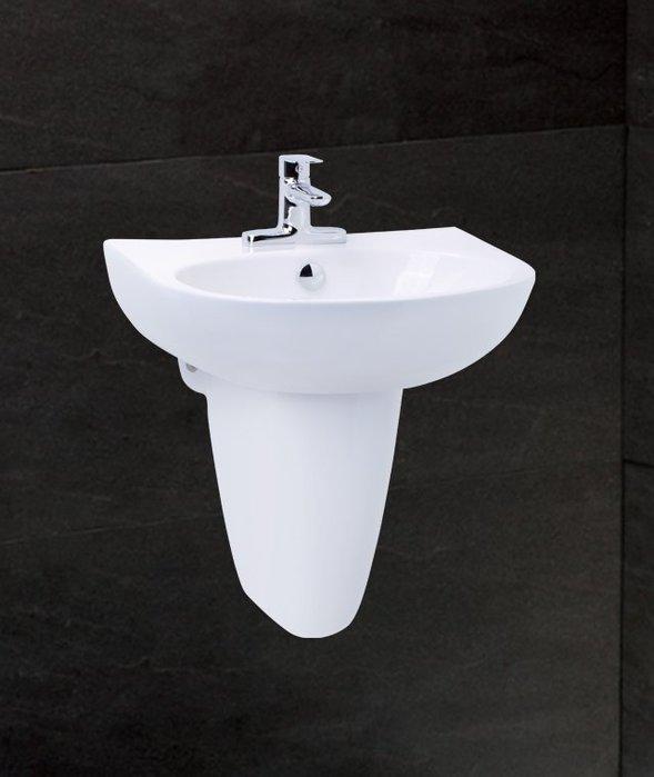 《101衛浴精品》凱撒 CAESAR 奈米抗污 半瓷腳 短腳柱 面盆 LS2150D【免運費 可貨到付款】