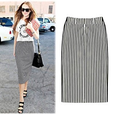 korea design strip pencil mid skirt dress top zalora asos h m 靚簡約特別直條紋款中長裙 及膝裙 襯衫