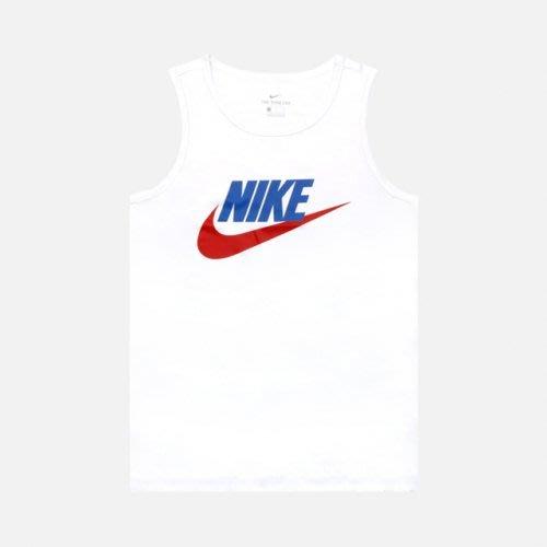 南 2020 8月 Nike NSW TANK ICON FUTURA 背心 白色 Ar4992-103 深藍451勾勾
