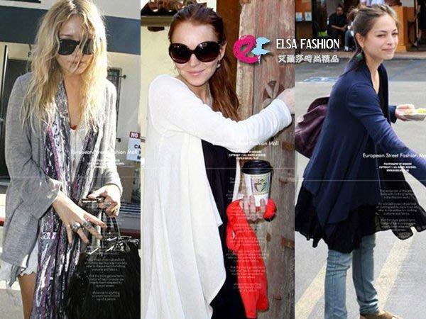 大尺碼外套 艾爾莎 不規則修身V領顯瘦防曬衣罩衫外套XL~4XL【TAW2003】