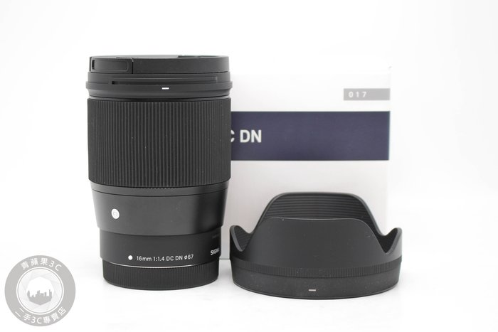 【高雄青蘋果】SIGMA 16mm F1.4 DC DNc C版 For Canon EF-M 二手鏡頭#53955