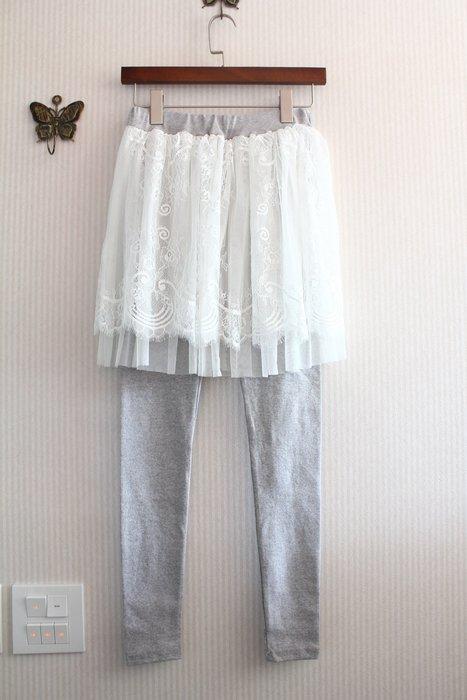 Smile House~特價~正韓國空運~小夢幻甜美百搭假兩件短紗裙內搭長褲((STPWTF00288))