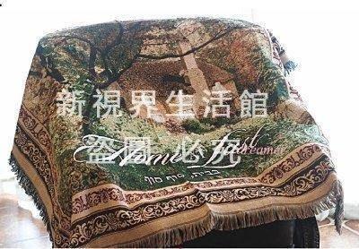 歐式田園全棉沙發毯巾地毯沙發蓋毯裝飾毯港灣3806{XSJ310521405}