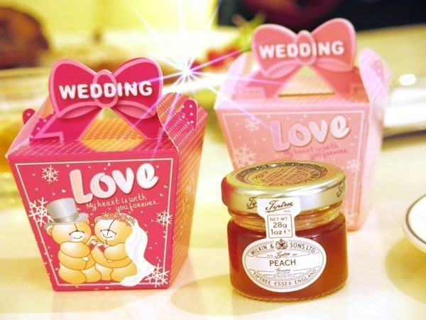 AM好時光【A03】TIPTREE果醬+婚紗熊包裝紙盒❤可換購 蜂蜜 婚禮小物 宴客迎賓送客禮回禮抽獎 喜糖盒 桌上佈置
