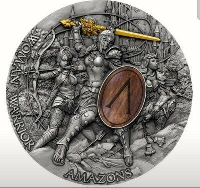 2019紐埃-亞馬遜女戰神銀幣