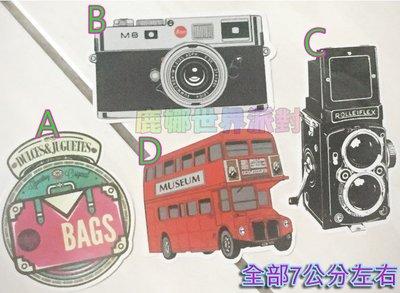 【鹿娜世界派對】現貨 小貼紙 復古風 相機 巴士 行李箱 行李箱貼紙 防水貼紙 車貼 個性獨特旅行箱貼紙
