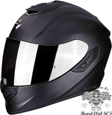♛大鬍子俱樂部♛ Scorpion® Exo 1400 Air Carbon 蠍子 充氣襯墊 全罩 消光 碳纖維 安全帽