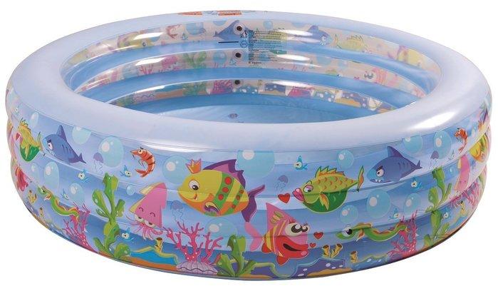 【Treewalker露遊】歡樂海洋透明水池185cm三層 親子圓型遊戲池戲水池游泳池(NG001~NG010)