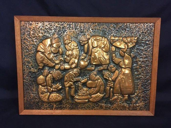 銅板畫-1978新加坡作家-名/T.A
